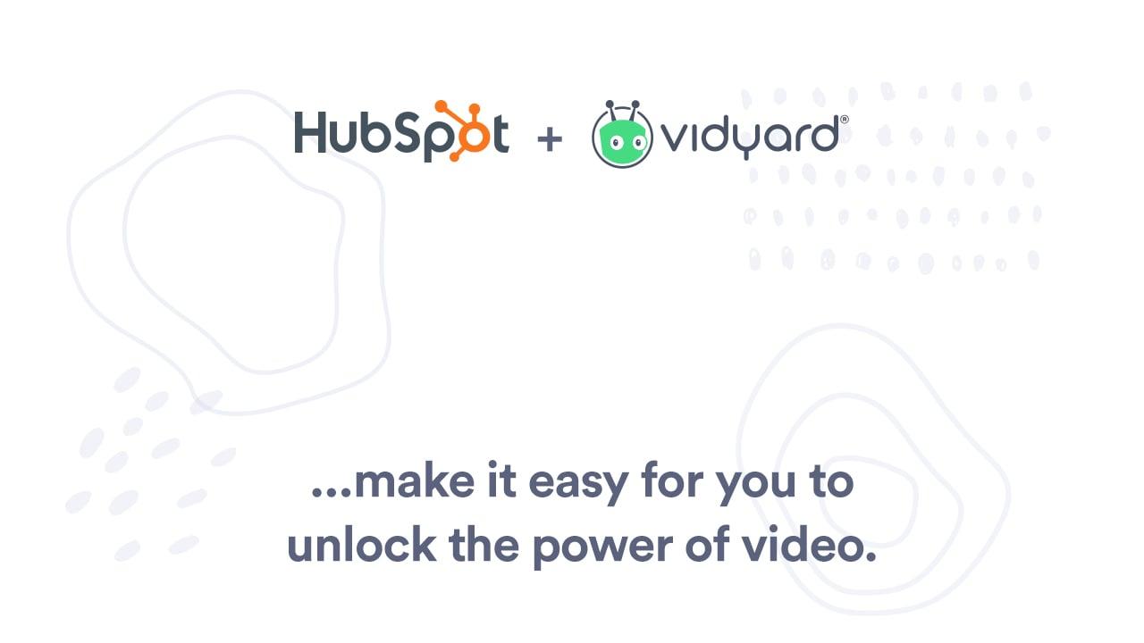 integrer la video hubspot