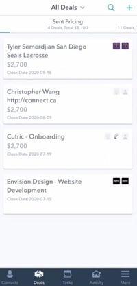 transaction application CRM mobile