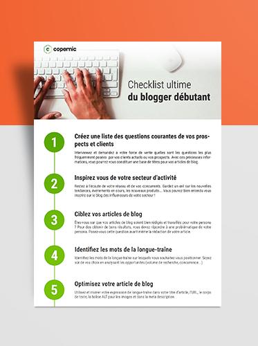 checklist blogger