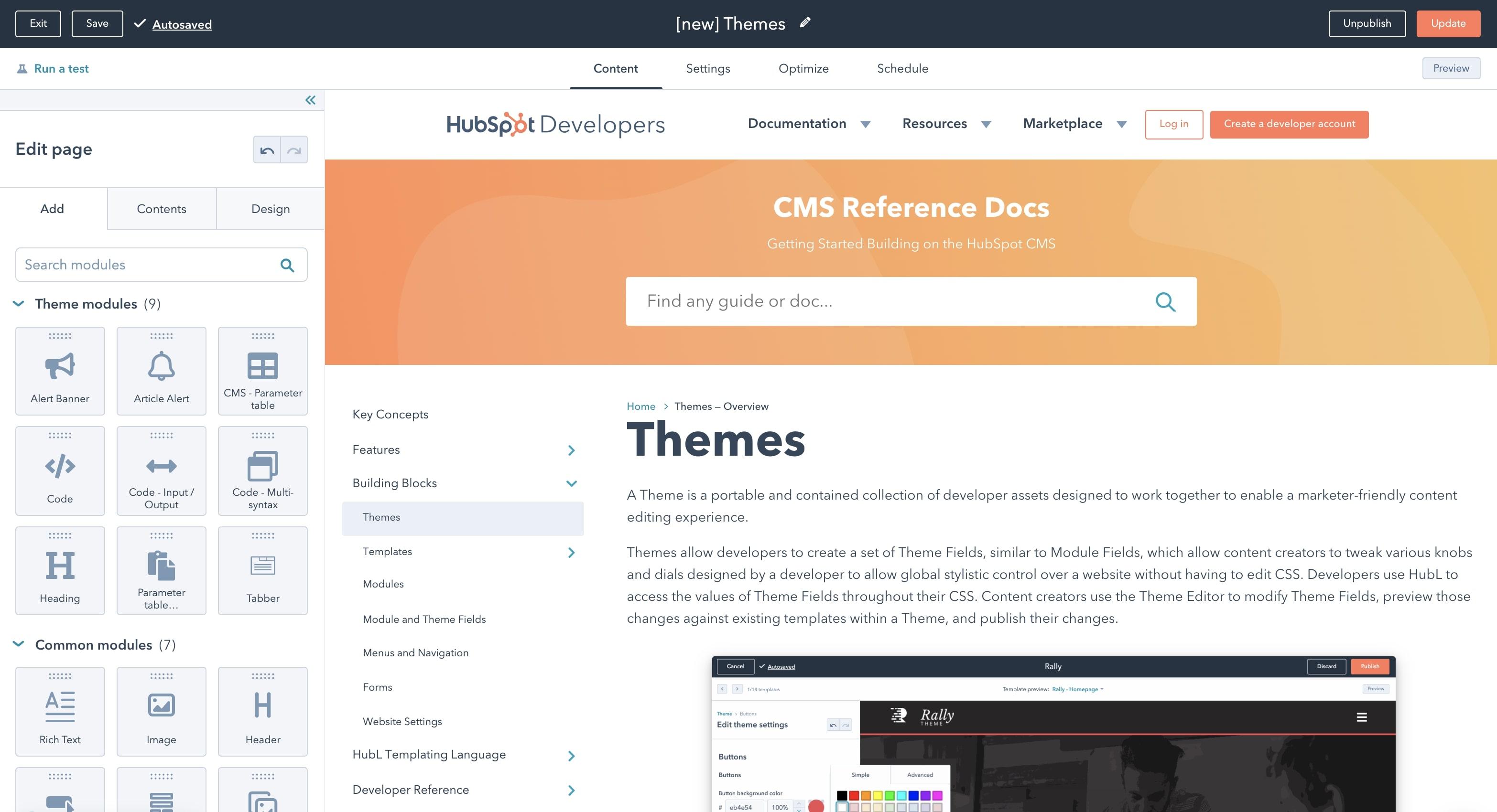 theme modules
